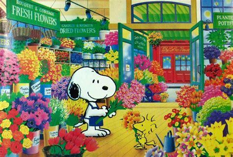 snoopy jigsaw puzzle flower shop snoopn4pnuts com