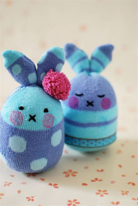 tutorial sock rabbit how to make easter bunny softies from socks