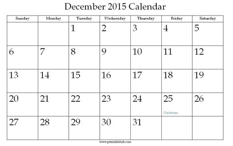 printable monthly calendar for december 2015 december 2015 calendar printable calendar page