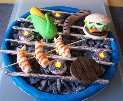 kuchen grillen grill torte barbecue cake fondant cakes for
