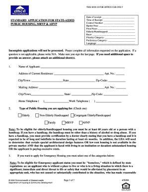 public housing application universal standard application for state aided public housing fill online printable
