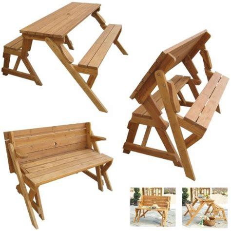 bench en español mesa de picnic que se convierte en banco al plegarla
