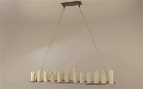 Rectangle Candle Chandelier Pillar Candle Rectangle Chandelier L Large 3d Model Max Cgtrader