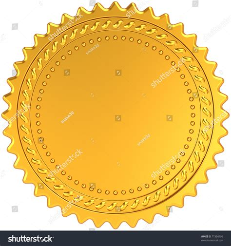award badge template golden award medal blank seal luxury chion badge label