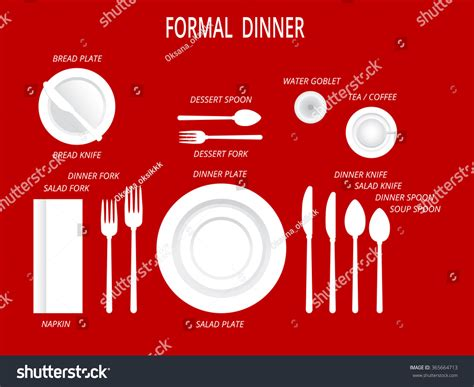 how many place settings formal dinner place settings dinner table stock vector