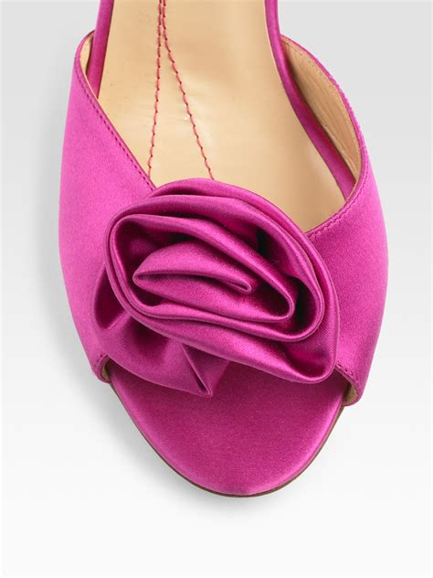 kate spade pink sandals kate spade new york satin sandals in pink lyst