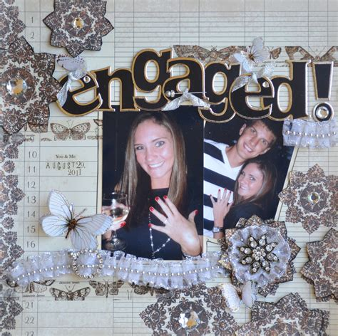scrapbook layout ideas for engagement engaged scrapbook com my scrapbooking pages