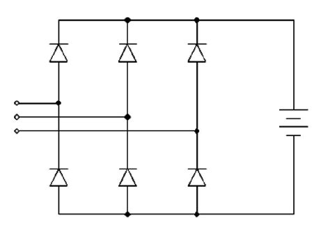 diode bridge 3 phase power electronics in small scale wind turbine systems intechopen
