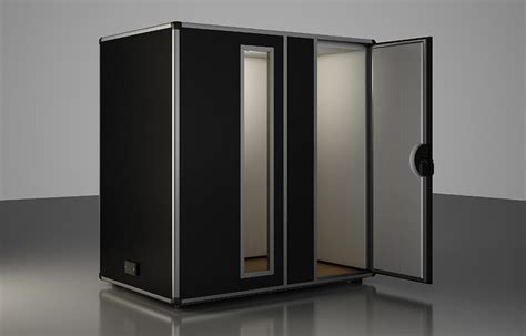 soundproof booth for musicians in duo start recording and