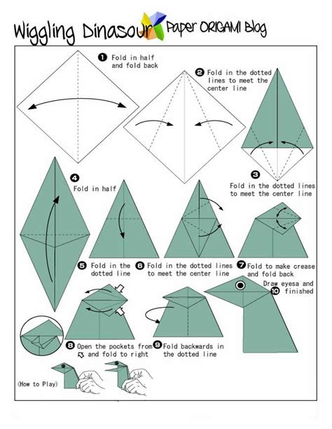 Interesting Origami - origami dinasaur paper origami guide