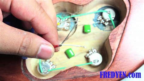diy les paul guitar kit part  wiring  pickups youtube