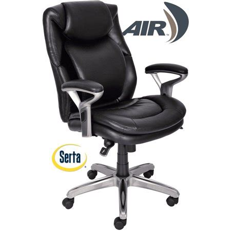 air health  wellness mid  office chair bonded leather smooth black walmartcom