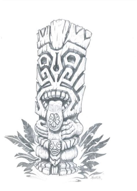 tiki head tattoo designs 5514x4604b1dc jpg 458 215 640 tiki
