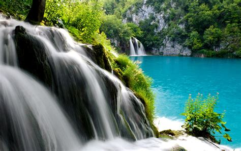 plitvice lakes national park waterfall wallpapers hd