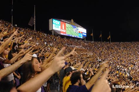 lsu student section tiger stadium pin by carley wahlborg on favorite places spaces pinterest