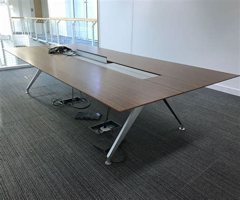 Steelcase Meeting Tables Steelcase Four Point Eight Boardroom Table 3240mm X 1500mm 12 Seater Meeting Table Walnut