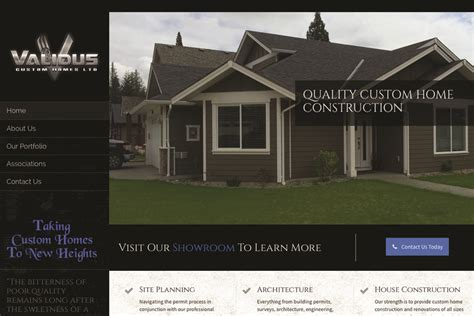 contracting company website design vancouver island