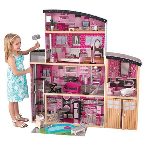 dollhouse mansion kidkraft sparkle mansion dollhouse reviews wayfair