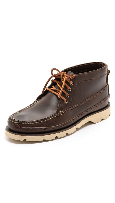 sperry top sider mens boots sperry top sider made in maine boat chukka boots in brown