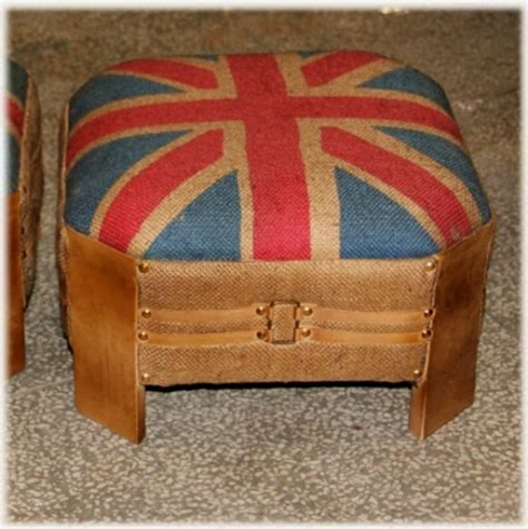 british flag ottoman union jack british flag ottoman in jute and leather