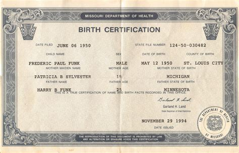 Records Birth Certificates Fred Pictures