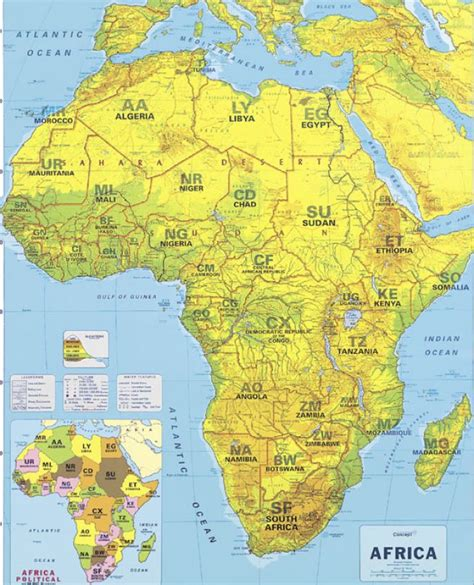 africa map mountains africa mountains map images