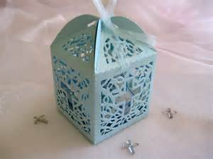 Favors For Baptism by 12 Pcs Holy Cross Pearled Blue Favor Boxes For By