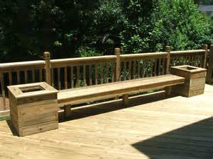 Deck Planters And Benches by Build Benches W Planters For Back Deck Maybe Add A