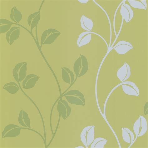 wallpaper green uk designer selection leaf trail wallpaper green silver
