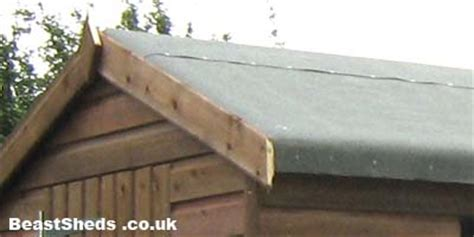 Felt A Shed Roof by Shed Roofing