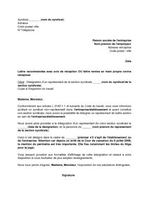 Resiliation Lettre Syndicat Lettre De D 233 Mission Un Syndicat Lettre De Motivation 2017