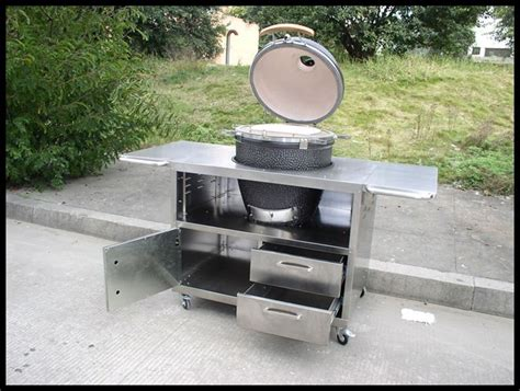 Outdoor Cooking Table by Stainless Steel Table Outdoor Bbq Kamado Cooking Grill