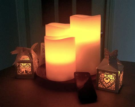 flameless candles pillar cream color long hours of