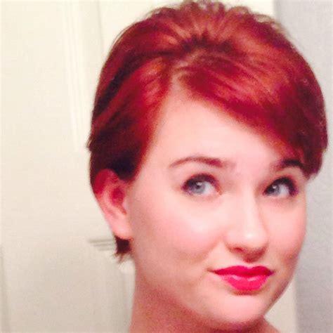 haircut on long red hair cut to a pixie cut red hair pixie cut long pixie thick hair hair colors
