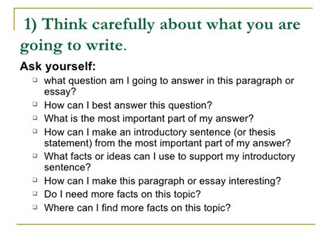 interesting things to write a paper on six pre writing steps