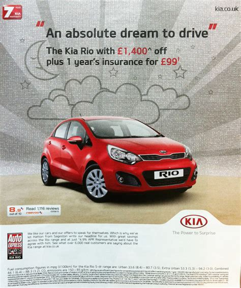Kia Ad Reevoo Ratings On A Kia Ad Published In The Guardian