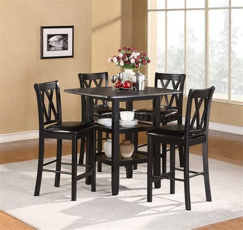 Dinette Sets Norman 2514bk 36 5pc Counter Height Dinette Set By Homelegance