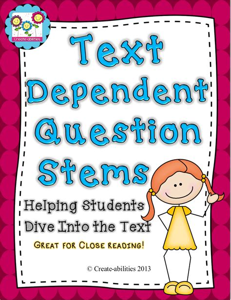 Or Questions Text Reading Part 3 Text Dependent Questions Create Abilities