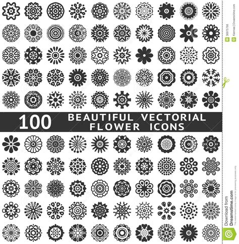 vector design royalty free stock images image 6446689 beautiful abstract flower icons vector royalty free stock image image 36975766