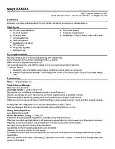 Banquet Captain Resume by Banquet Captain Resume Exle The Place San Diego California