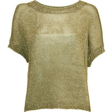 gold knit sweater 91 vince tops vince gold metallic knit sweater top