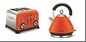 Orange Kitchenaid Toaster Morphy Richards Orange Kettle Amp 4 Slice Toaster Ebay
