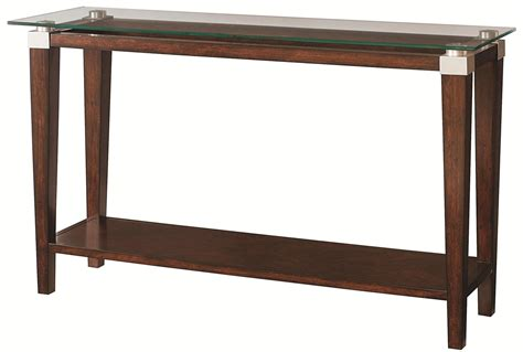 the sofa table hammary solitaire contemporary sofa table with glass top