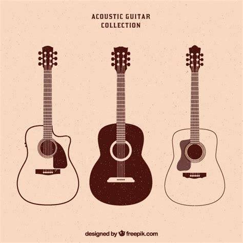 imagenes retro guitarra colecci 243 n vintage de tres guitarras ac 250 sticas descargar