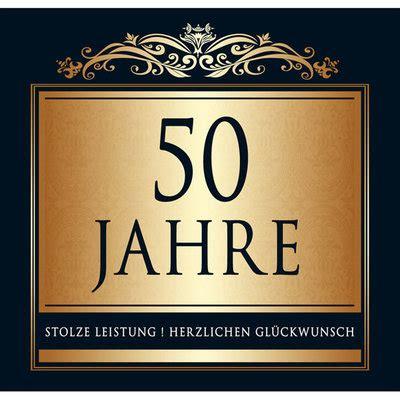 Aufkleber 50 Goldene Hochzeit by Aufkleber 50 Jahre Etikett Sektflasche Flasche