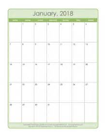 Free Printable 2018 Monthly Calendar Printable Calendar 25 Free Professional Calendar