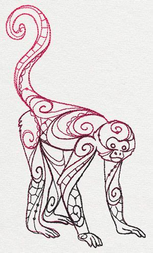 spider monkey tattoo 85 best embroidery designs animals images on