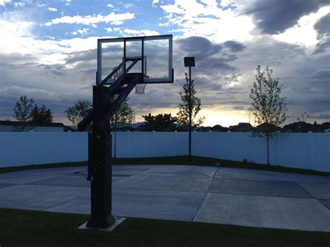 basketball court outdoor lighting the sun sets on this utah basketball court but no worries