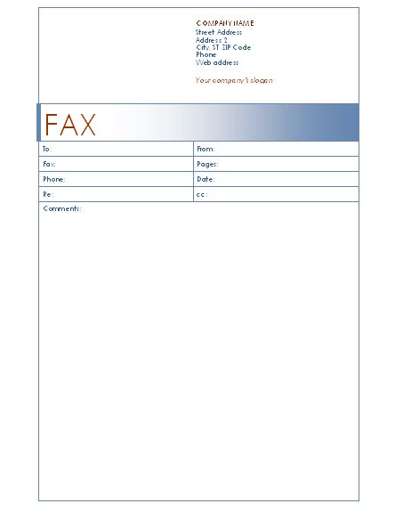 Basic Fax Cover Sheet Search Results Calendar 2015 Fax Template Microsoft Word
