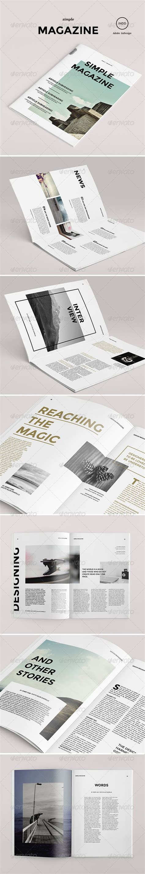 simple graphic design layout simple magazine typography graphics and design
